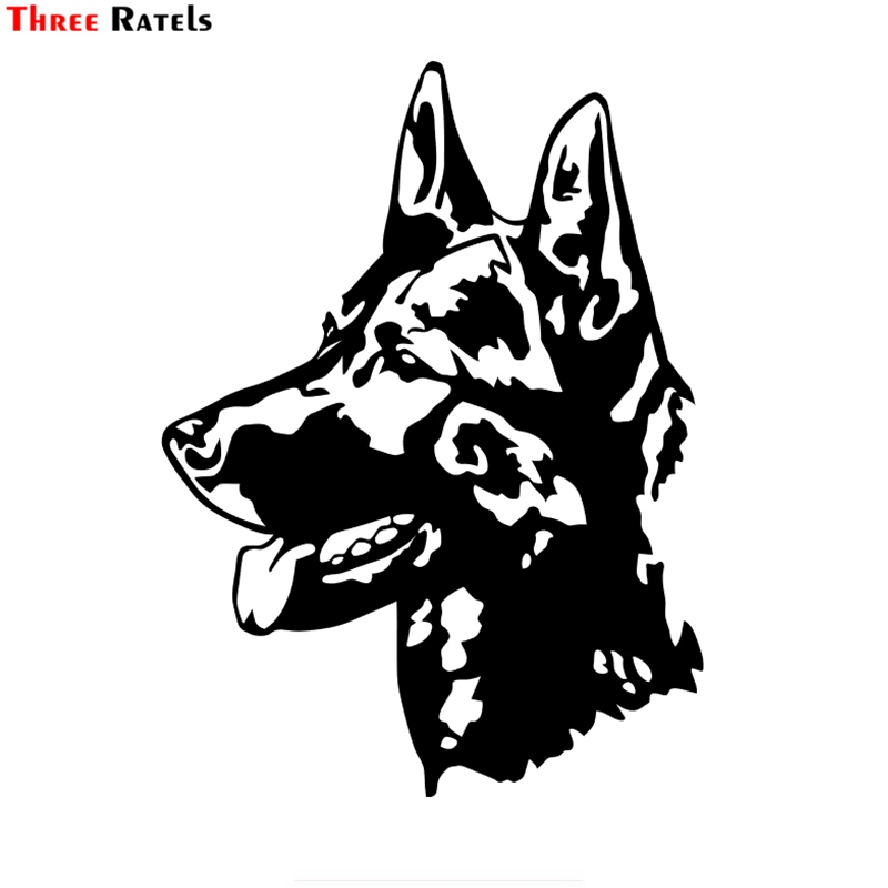 Three Ratels LBH186# 15x11.1cm German Shepherd Dog Car Sticker Funny Car Stickers Styling Removable Decal