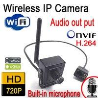 Venda quente ip Sem Fio da câmera Em Miniatura 720 P hd wifi mini câmeras de cctv sistema de home segurança onvif webcam alto-falantes de áudio porta cam