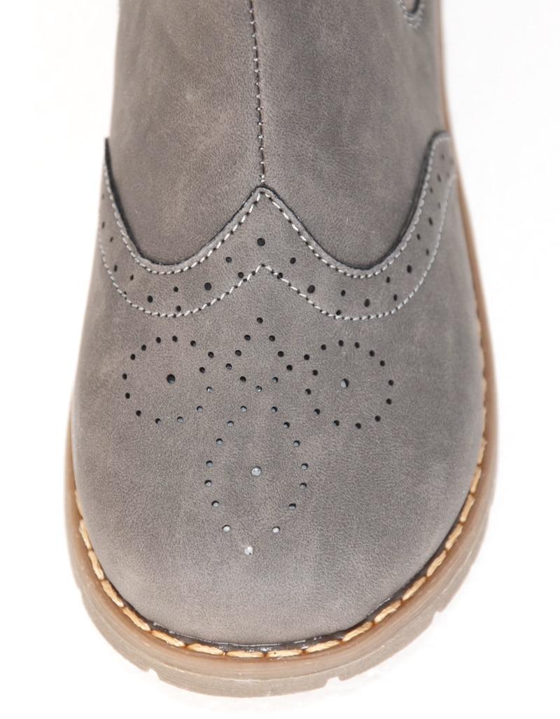 Novo! Crianças sapatos sapatos de meninas crianças sapatos botas chaussure fille menina sapato bota cinza para o outono do bebê SandQ hard & toe calcanhar antiderrapante