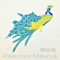 #BN331 10Pcs/Lot Wholesale Embroidered Peacock Sew On Patches Applique DIY Lace Clothing Accessory