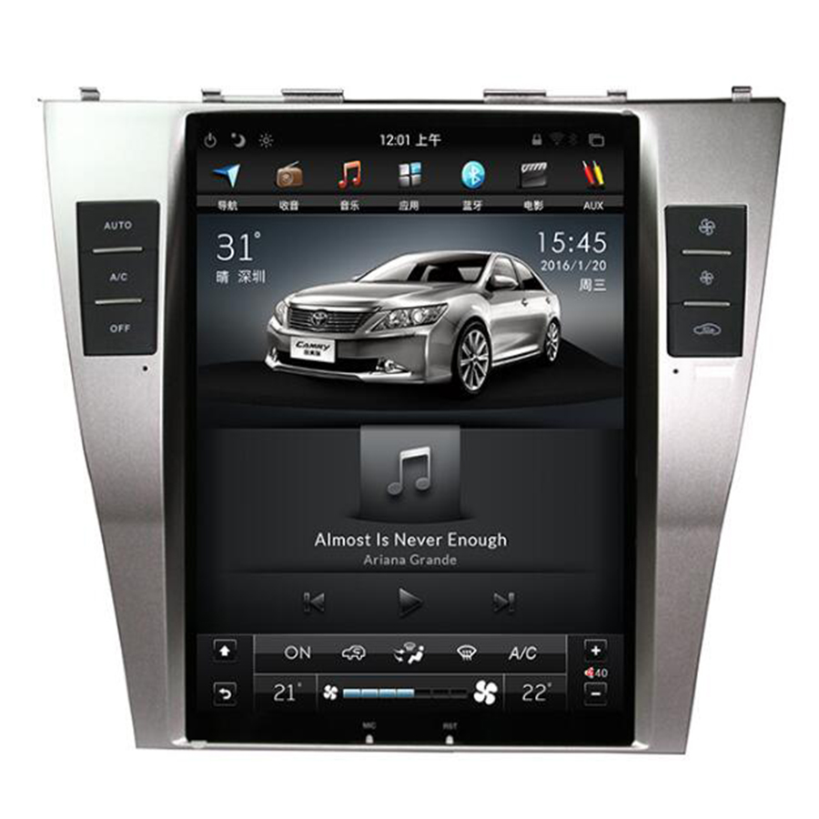 2 Din Voiture Radio Android 6.0 Tesla Style GPS Navigation Lecteur DVD pour Toyota Camry 2007 2008 2009 2010 2011 DAB/WIFI/OBD/Carplay