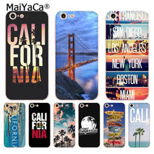 Maiyaca California Mát New York Boston Miami Ốp Lưng Điện Thoại Cho iPhone 8 7 6 6S 6S Plus X XS Max XR 5 5S SE 11 11pro Max Ốp Lưng(China)