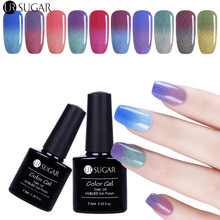 UR SUGAR 1Bottle 7.5ml Soak Off UV Thermal Fur Gel Polish Color-changing Furry Varnish Gel Nail Art Lacquer