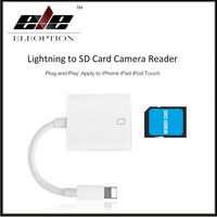 For Lightning To SD TF Card Camera Reader Compatible OTG Data Cable For IPhone 8 7