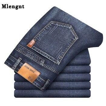 2019 New Business Mens Classic Denim Jeans Black Summer Thin Slim Fit Pants High Stretch Fashion Skinny Male Vintage Jeans ZLS11