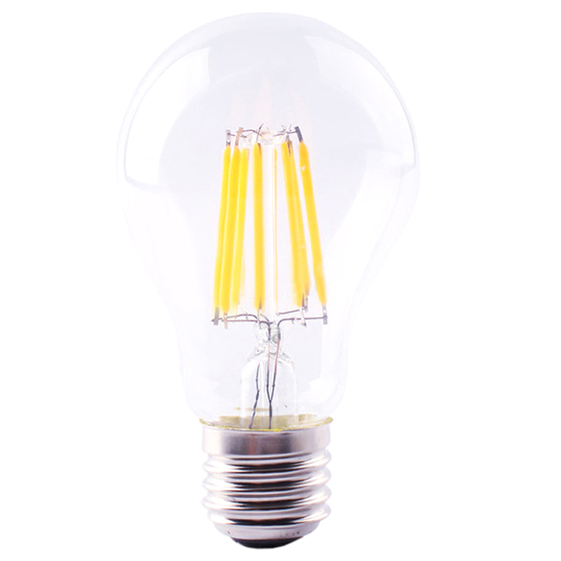E27 Edison Bulb LED Lamp Retro Vintage Filament COB Light 220V /8W e27 led 8w white warm white cob led filament retro edison led bulbs 85 265v
