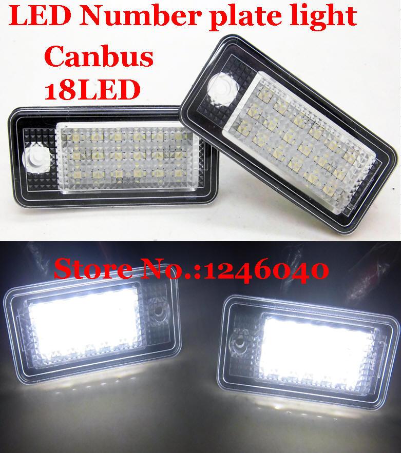 Canbus светодиодный фонарь освещения номерного знака Лампа для освещения номерного знака для Audi A3 A4 S4 RS4 B6 B7 A6 RS6 S6 C6 A5 S5 2D Кабриолет Q7 A8 S8 RS4 Avant