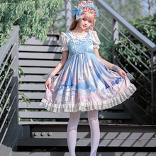Whale Castle ~ Sweet Printed Lolita JSK Dress Sleeveless Casual Summer