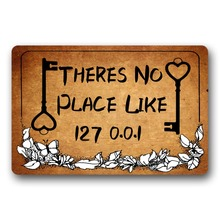 Theres No Place Like 127 0.0.1 hallway front door mats Rug mat Decorative Doormat Indoor/Outdoor Easy to clean