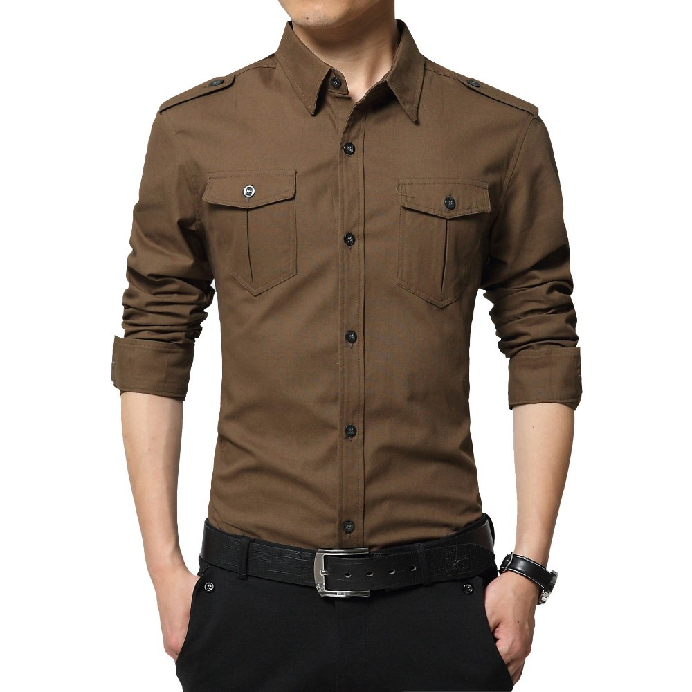 Men shirt korean style casual mens shirts mens casual for Mens dress shirt sleeve length