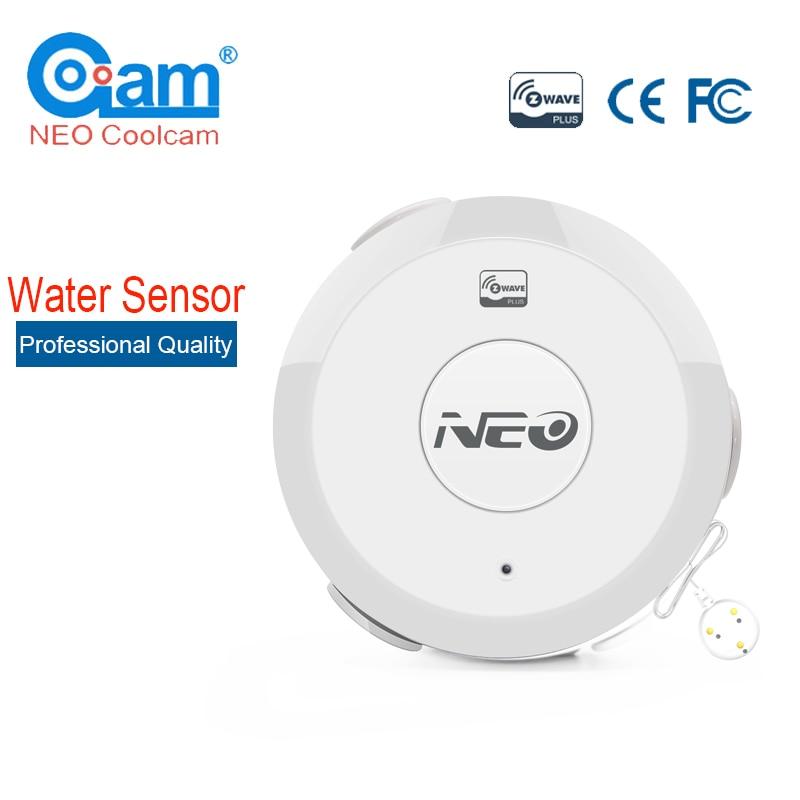NEO COOLCAM NAS-WS01Z Z-vague D'inondation Fuite D'eau Alarme Capteur Compatible Z vague Système 300 série et 500 série Domotique