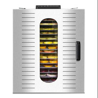 220V Commercial Electric Food Dryer 16 Layers Stainless Steel Fruit Vegetable Meat Sausage Seafood Herb Dehydrator