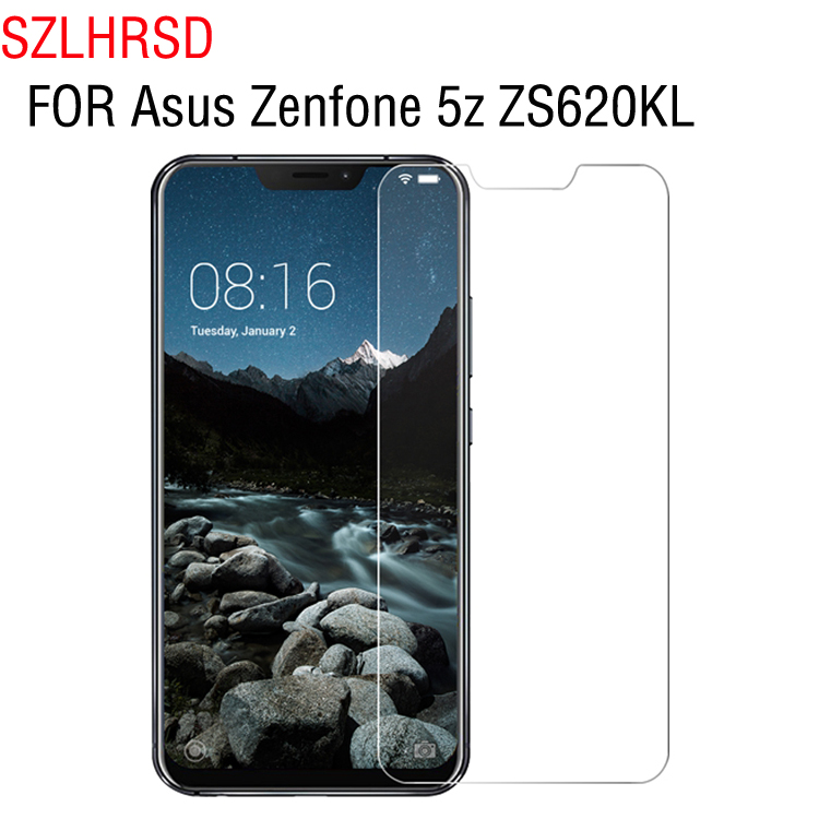 SZLHRSD 2ps 2.5D 0.26mm Premium Tempered Glass For Asus Zenfone 5z ZS620KL Screen Protector protective film For Asus Zenfone 5z