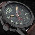 Curren Genuine 2016 novos relógios homens relógio militar relógio homem de negócios de moda casual pulseira de couro Relógios De Pulso relogio
