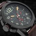 Curren Genuino 2016 nuevos relojes de los hombres militar reloj de moda reloj de hombre correa de cuero casual de negocios Relojes de Pulsera relogio