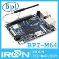 BPI-M64 Банан П. и. M64 A64 64-разрядных Четырехъядерных Процессоров 2 ГБ RAM BPI M64 с Wi-Fi Bluetooth 8 ГБ eMMC демонстрационная плата Одноплатный Компьютер SBC