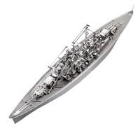 DIY 3D Metal Puzzle Assembly Model Bismarck Battleship Models Military Ship Kids Toys