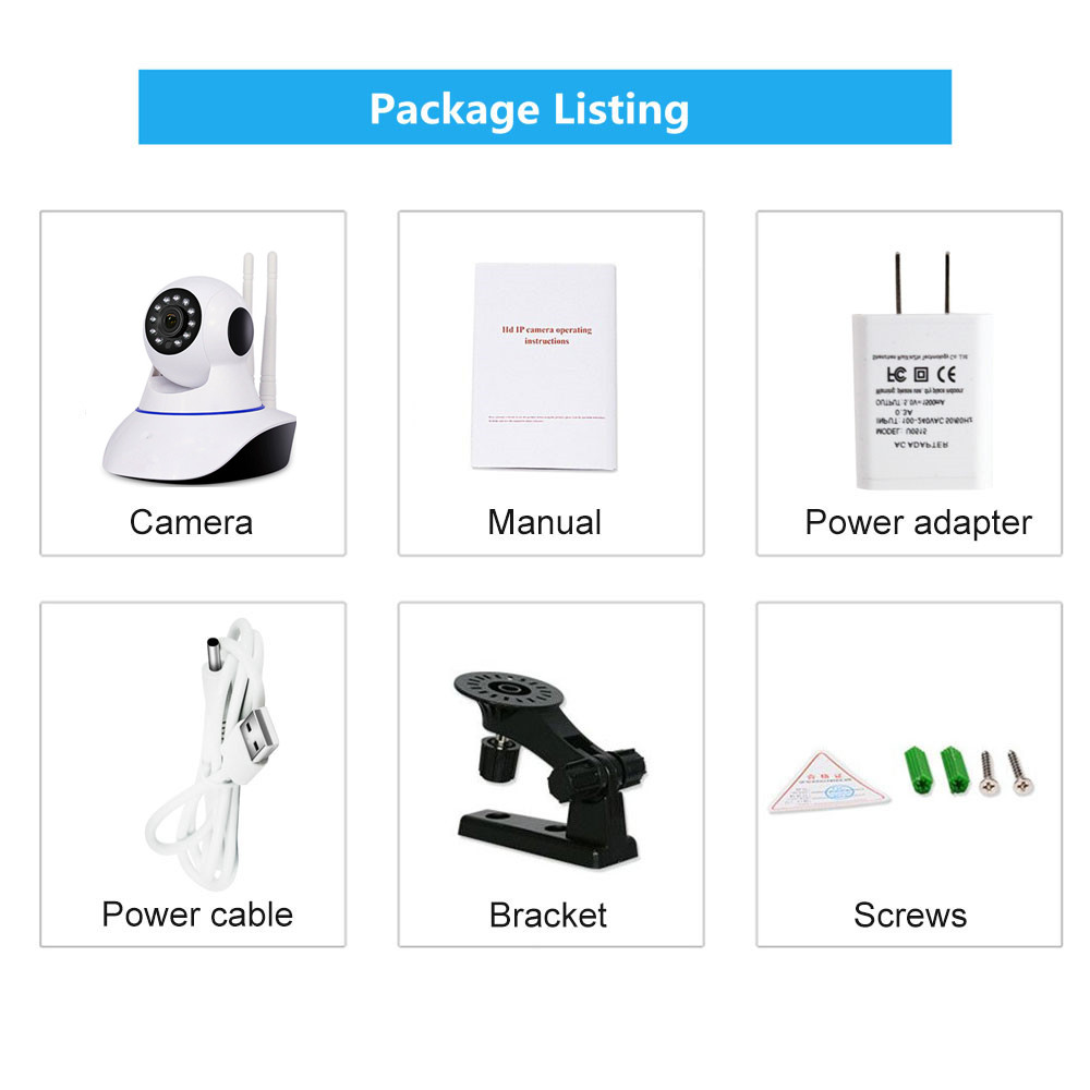 DH31G YOOSEE WIFI CAMERA PACKAGE LIST