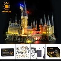 Светодиодный свет комплект для Гарри Поттера хогварта замок свет комплект совместим с 71043 светодио дный не включает модель