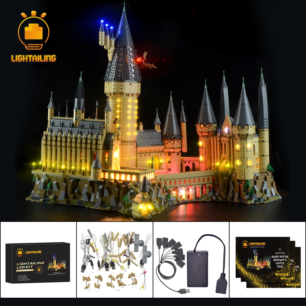 Ha condotto la Luce Up Kit Per Harry Potter Hogwart del Castello di Luce Set Compatibile Con 71043 (Non Include Il Modello)