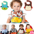Dos desenhos animados Do Bebê Babadores Burp Cloths Babadores para bebês À Prova D' Água de Alimentação Do Bebê Bib Aventais Saliva para Crianças Auto Cuidados De Alimentação Cor NO.21-31