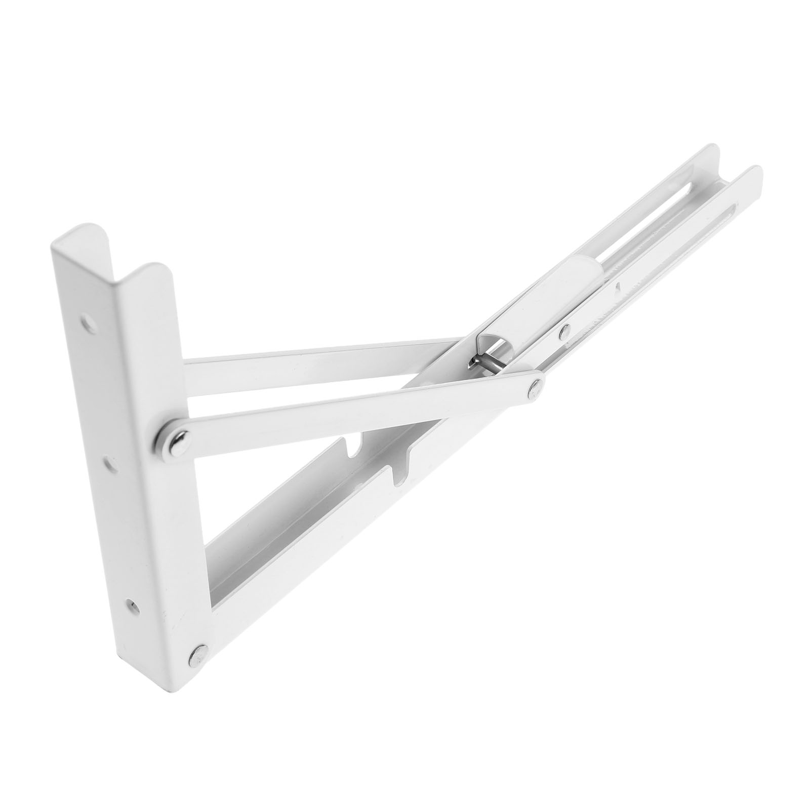 Dreld 2pcs Stainless Steel Folding Metal Wall Mounting Triangle Shelf Bracket White Wall Shelf Table Support Bracket 300*160*3mm Hardware Brackets & Clamps