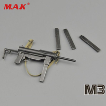 10 CM Long 1/6 world warII US army M3 submachine gun models for soldier action figures toys weapon models 1 6 4d germany mp7 submachine gun model diy assemble models for 12 inches action figures collections