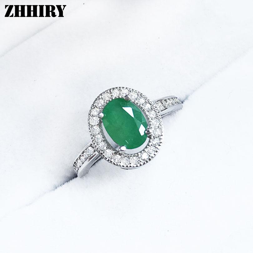 Émeraude Vert Jade 18KGP cristal Ellipse Femmes Fille Soirée Pendentif Chaîne Collier