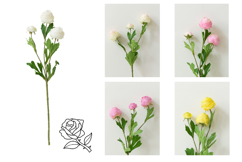 artificial flower roses peony (24)