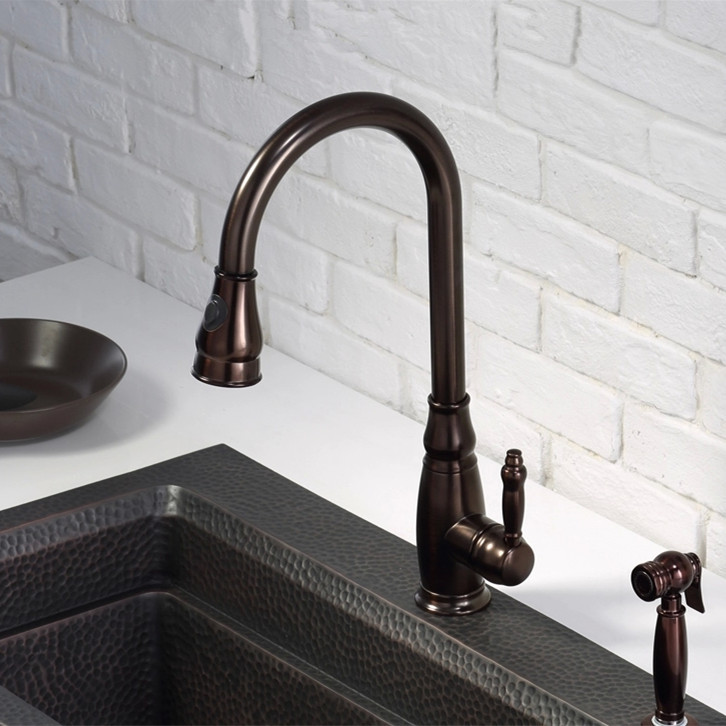 High Quality Classic Brass Single Handle Antique Brown Kitchen ...