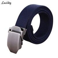 Lucidity Belts Brand Men Fashion Rice Color Designer Man Belt Smooth Buckle Prevent Allergy Unisex Canvas Belts