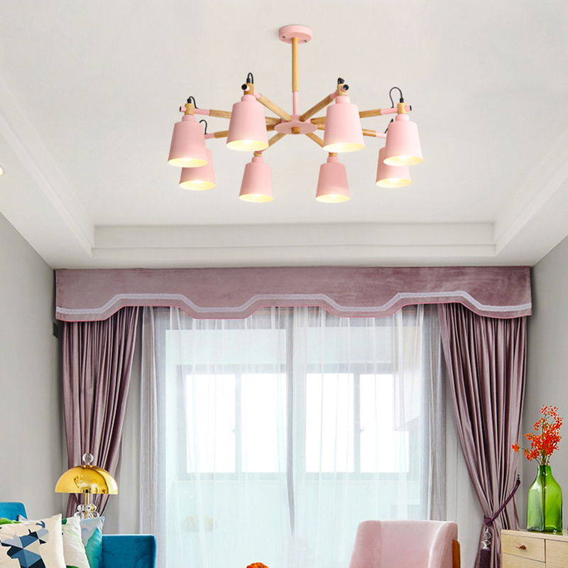 US $121.0 |Black/white/yellow/pink/grey chandelier light Large Modern  Chandelier Lighting for Living Room Bedroom-in Chandeliers from Lights & ...