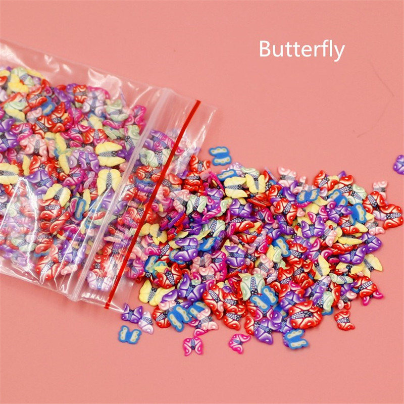 Home 1000 Pieces Plasticine Addition Soft Ceramic Fruit Piece Mixed Fruit Bar Nail Jewelry Mobile Beauty Patch Slime Diy Supplies