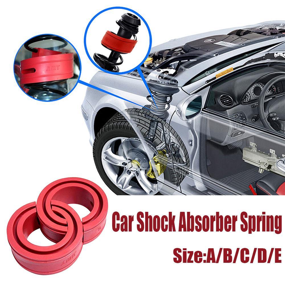 2 PCS Rot Farbe Auto Stoßdämpfer Frühling Auto Power Auto Puffer A/B/C/D/ e/Typ Quellen Stoßstangen Kissen