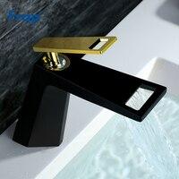 Frap 2018 новый черный белый для ванной basinfaucet полые формы ванны Водопад смесители одной ручкой воды смесителя Y10001/2/ 3