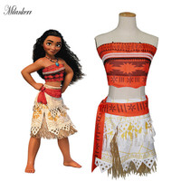 Milankerr Cosplay Princess Moana Costume Moana Princess Kids Dress Adult Cosplay Clothing Movie Moana Halloween Party