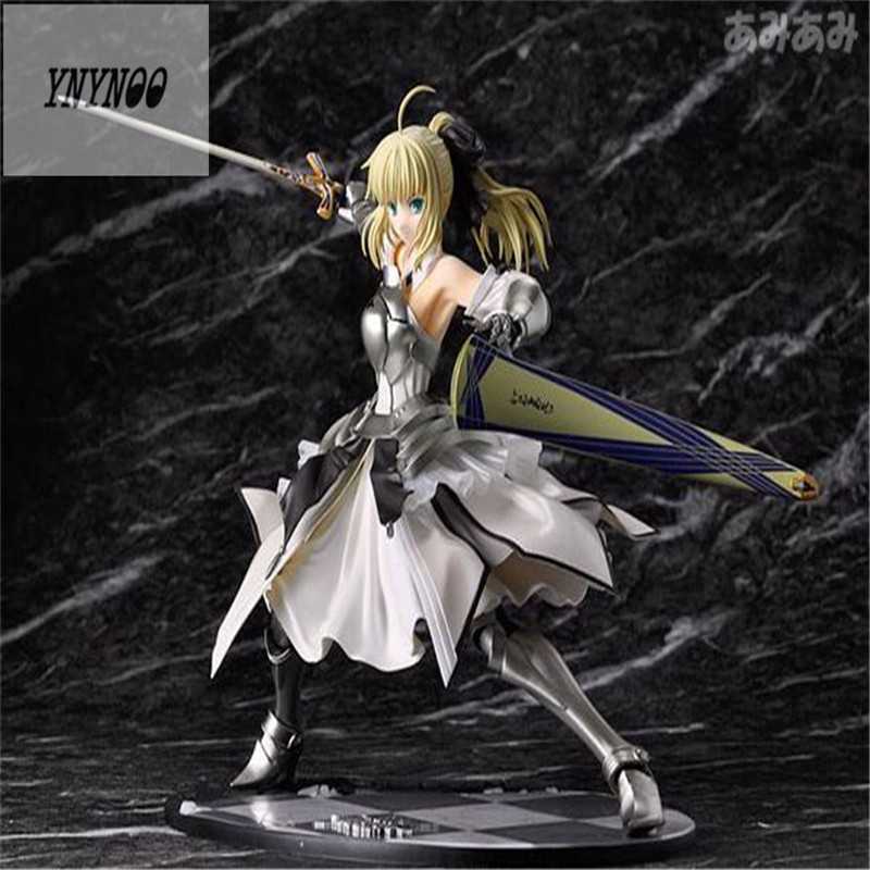 YNYNOO 23cm Anime Fate Stay Night Saber Action Figures Lily Avalon 1 7 Painted PVC Figure New in Box Model Toys Doll Z241 zhaidianshe anime saber lily pvc action figure 23cm fate stay night toys gift collectible model toys for children