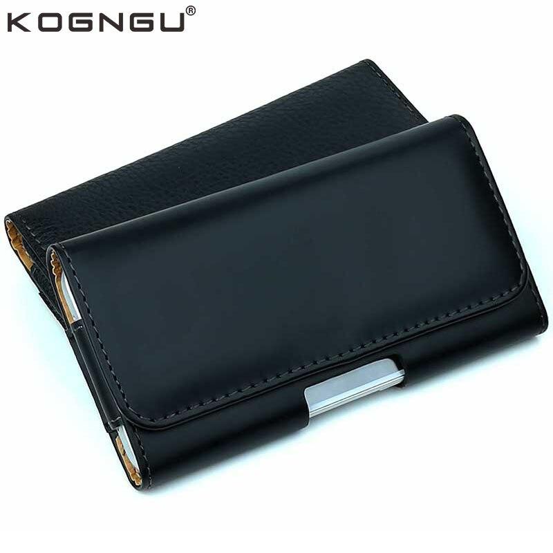 Kogngu Haute Qualité En Cuir PU Téléphone Clip Ceinture Support Mobile Cas pour Huawei Honneur 9 Lite Téléphone Accessoires