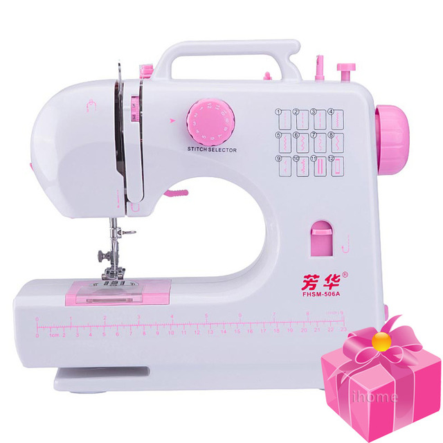 Portable Multifunction Electric Sewing Machine Kit 40 Stitches with New Reverse Button On Sewing Machine