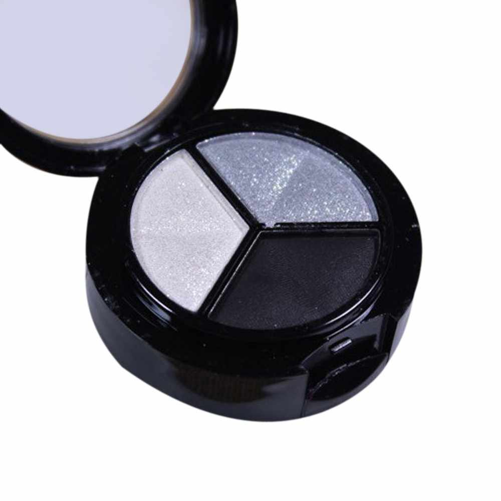 3 Colors   Natural Smoky Cosmetic Eye Shadow Palette Set Beauty Shimmer Matte Eyeshadow Professional Make Up4.29