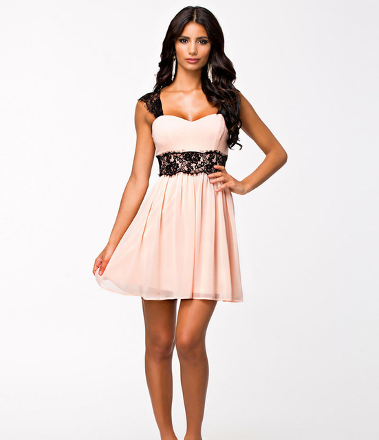 07190e0fe4 Sumer Women Lady Sexy Club Dress Work Wear Pink Floral Formal Contrast Lace  Print Backless Party