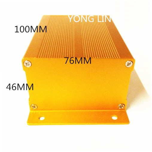 1 stücke Aluminium Box76 * 46-100mm/anschlussdose/Adapter gehäuse/Aluminium qualifikation box/Split aluminium/Auto shell gewidmet