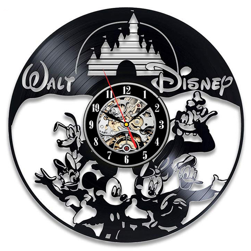 Vinyl Wall Clock Modern Design Childrens Bedroom Decor Cute Mouse Cartoon CD Record Clocks Wall Watch Home Decor Gift for KidsVinyl Wall Clock Modern Design Childrens Bedroom Decor Cute Mouse Cartoon CD Record Clocks Wall Watch Home Decor Gift for Kids