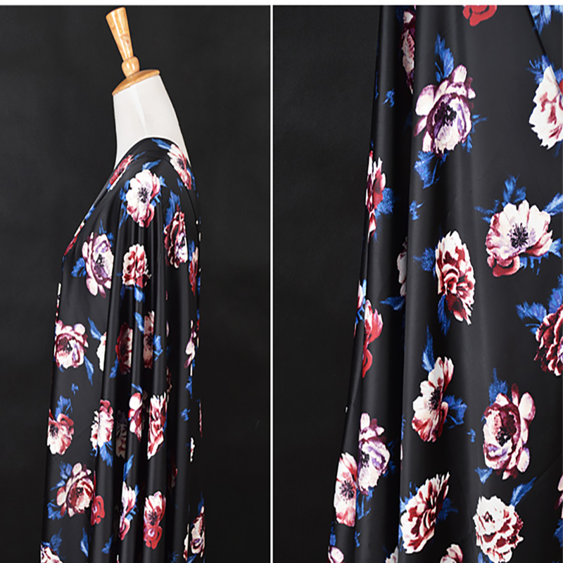 150x50cm Japan Imported floral Jacquard Brocade Fabric 3D jacquard yarn dyed fabric for women fashion coat Dress Skirt