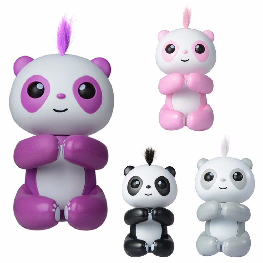 Mini Happy Panda Smart Touch Induction Pet Toy Interactive Fun Electric Education Toy Creative Gift for Kid