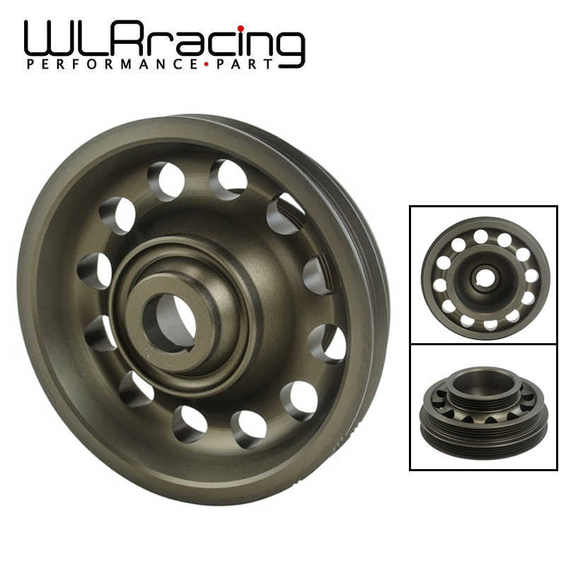 WLR RACING - Racing Light Weight Aluminum Crankshaft Pulley OEM Size 92-95 For Civic SOHC D16 WLR-CP009
