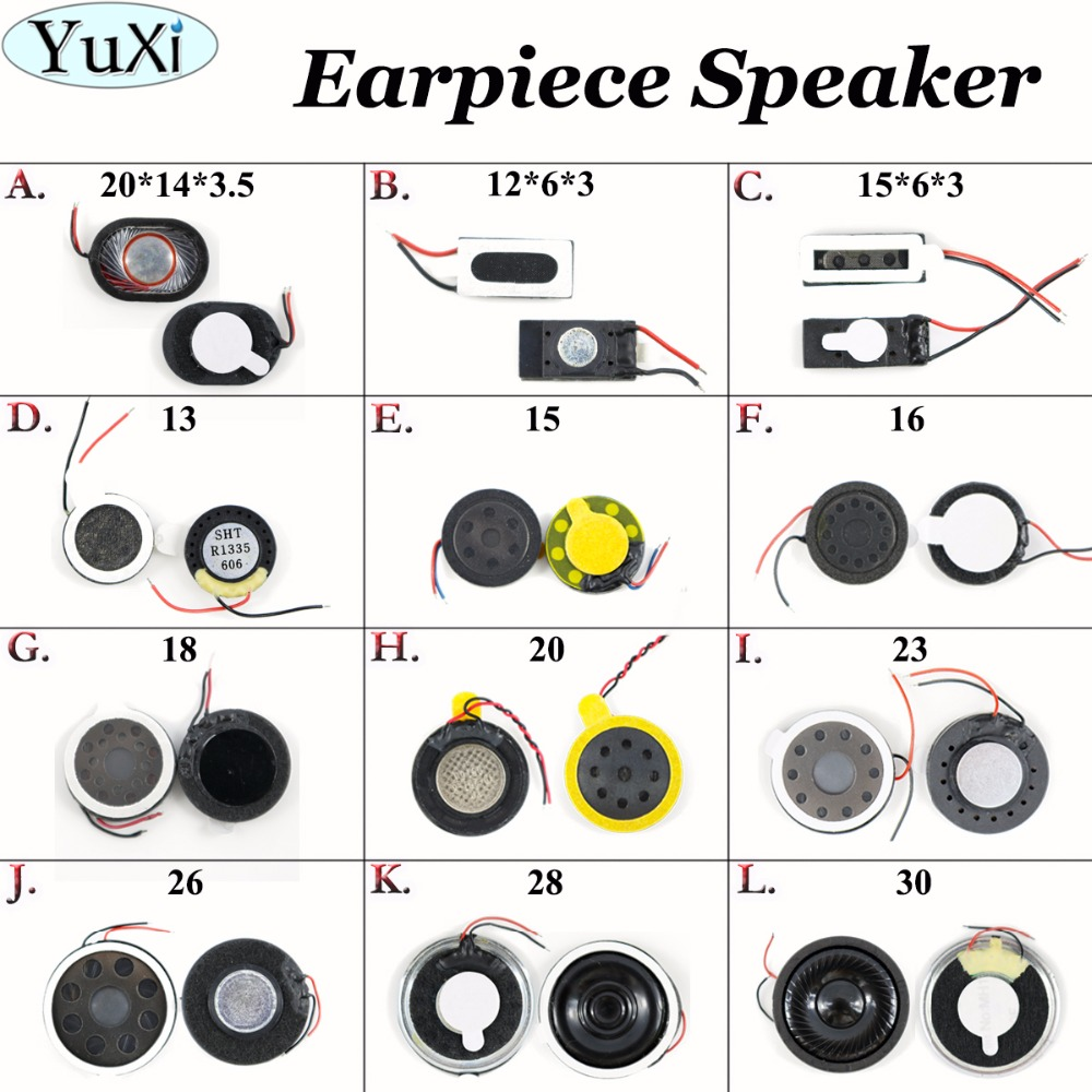 YuXi 1pcs Loud Speaker Buzzer Ringer For Cellphone Compatible Universal Used 30*5.5/28*5.5/26*5/23*4.5/20*3.5mm