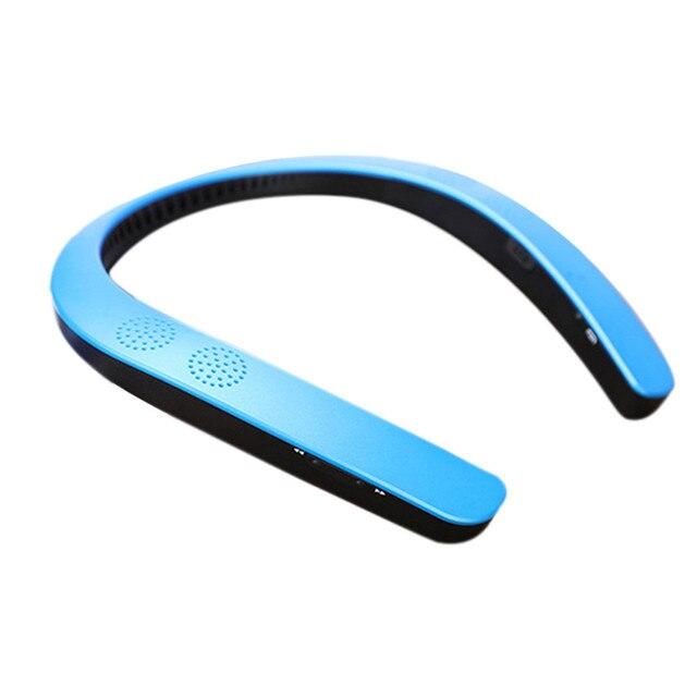 블루투스 5.0 무선 10 미터 효과적인 범위 Neckband 목 스피커 FM AUX SD USB 스테레오 USB 충전 케이블 아이폰-10XT