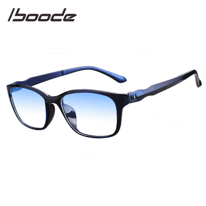IBOODE TR90 Anti Blue Light Reading Glasses Men Women Square Presbyopic Eyeglasses Female Male Hyperopia Eyewear Spectacles