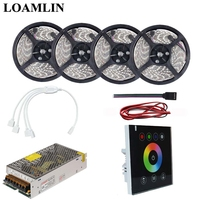 2835/3528SMD RGB Led Flexible Strip Light With Black Touch Panel Led Controller Power Driver Kit 5M 10M 15M 20M